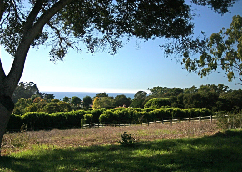 Ocean view of 8.02 Acre parcel for sale in Hope Ranch for $4,950,000 - Listed by Thomas C. Schultheis, Broker Associate at Berkshire Hathaway