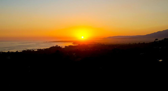 Sunset view from 1376 Estrella Dr. in Hope Ranch Santa Barbara, CA. listed for $3,700,000 by Thomas Schultheis, Broker Associate at berkshire Hathaway HomeServices