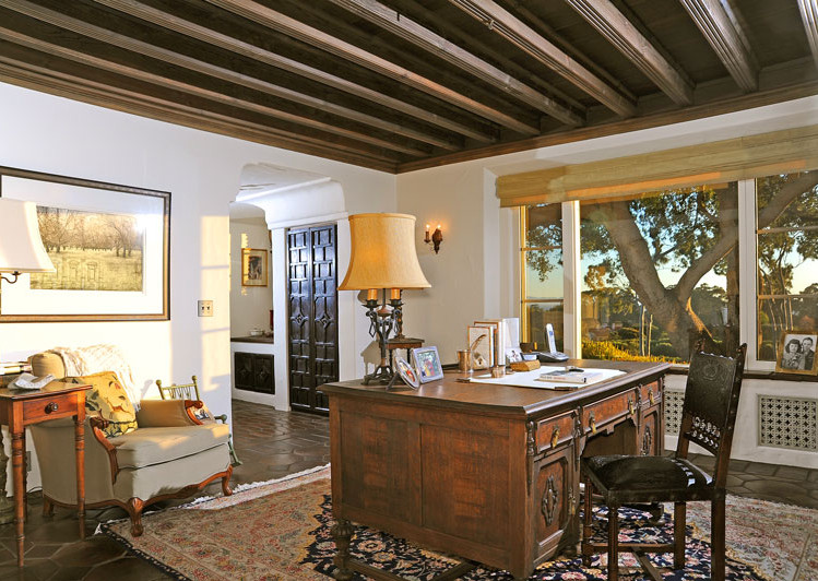Master Suite of Robledal, a George Washington Smith Hope Ranch Estate listed for $15,750,000 - Listed by Thomas C. Schultheis, Broker Associate at Berkshire Hathaway