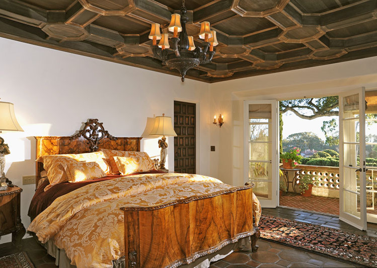 Master Bedroom of Robledal, a George Washington Smith Hope Ranch Estate listed for $15,750,000 - Listed by Thomas C. Schultheis, Broker Associate at Berkshire Hathaway