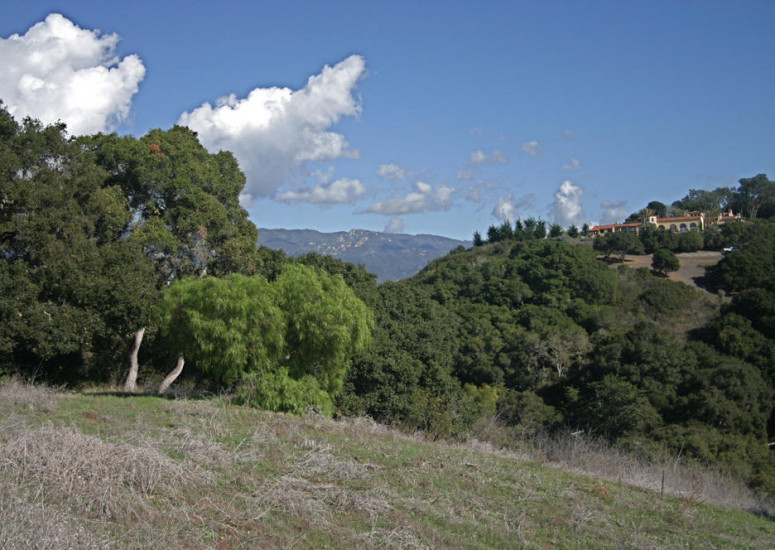 Mountain View of 8.02 Acre parcel for sale in Hope Ranch for $4,950,000 - Listed by Thomas C. Schultheis, Broker Associate at Berkshire Hathaway