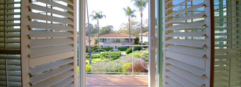 View of balcony of 2621 State St. 4 in Villa Constance North in Santa Barbara listed for $669,000 by Thomas C. Schultheis, Broker Associate at Berkshire Hathaway