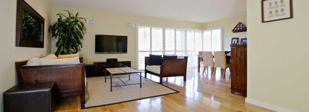 Living Room of 2621 State St. 4 in Villa Constance North in Santa Barbara listed for $669,000 by Thomas C. Schultheis, Broker Associate at Berkshire Hathaway