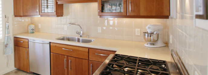 Kitchen of 2621 State St. 4 in Villa Constance North in Santa Barbara listed for $669,000 by Thomas C. Schultheis, Broker Associate at Berkshire Hathaway