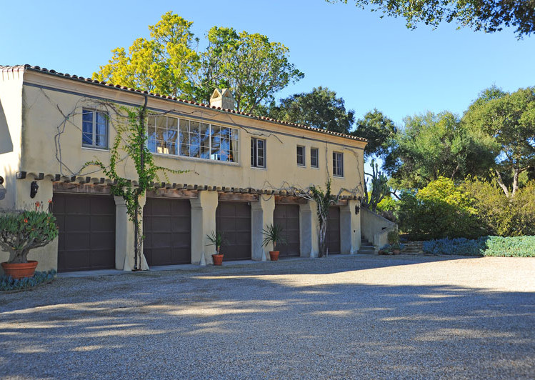 Service Driveway of Robledal, a George Washington Smith Hope Ranch Estate listed for $15,750,000 - Listed by Thomas C. Schultheis, Broker Associate at Berkshire Hathaway