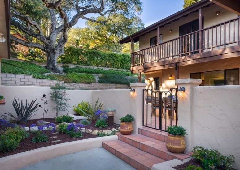 907 Fellowship - Front Patio - Sold by Thomas Schultheis of Berkshire Hathaway HomeServices in Santa Barbara