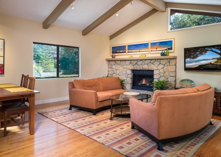 907 Fellowship - Living Room - Sold by Thomas Schultheis of Berkshire Hathaway HomeServices in Santa Barbara